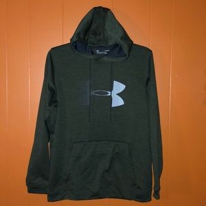 Under Armour ColdGear Gray Hooded Sweatshirt L
